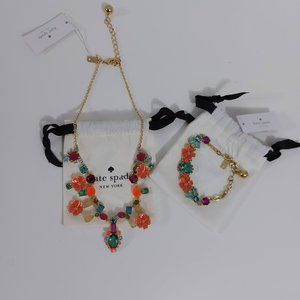 NWT Kate Spade Garden Party Necklace Bracelet Set